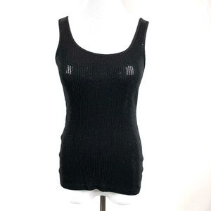 Express Sexy Basics Black Sequined Tank